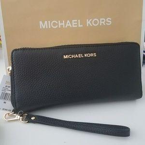 new large continental michael kors wallet mk